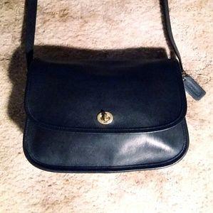 Vintage Coach Black City Bag
